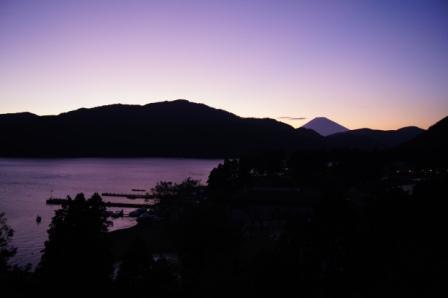 芦ノ湖夕景