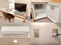 【ライティングテーブル】【空冷蔵庫】【個別エアコン】【有線LAN】