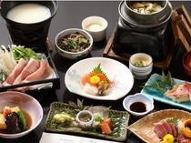 豆乳の豚しゃぶしゃぶ会席膳(料理一例)