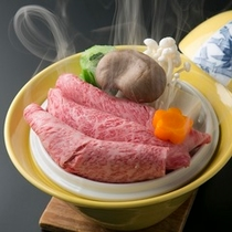 昼神温泉の湯で蒸した信州牛の温泉蒸し