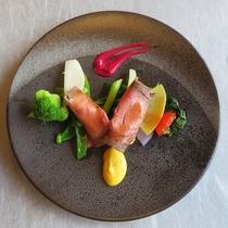 ローストビーフ/信州野菜を添えて