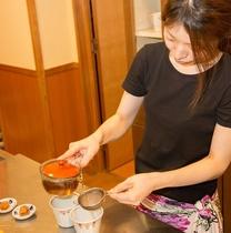 砂塩風呂の日替わり薬草茶