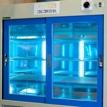 紫外線によるスリッパ殺菌機★大浴場入口