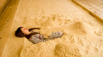 砂塩風呂入浴 STEP3