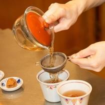 砂塩風呂の薬草茶