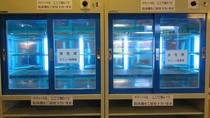 新型コロナウィルス感染防止対策の為のスリッパ殺菌機☆湯上り処