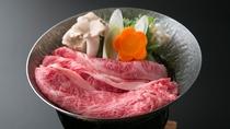 信州牛のすき焼き