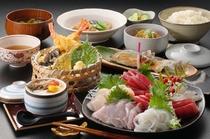 特別料理:たっぷり三陸のさしみ付夕食