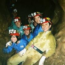 鍾乳洞の洞くつ探検