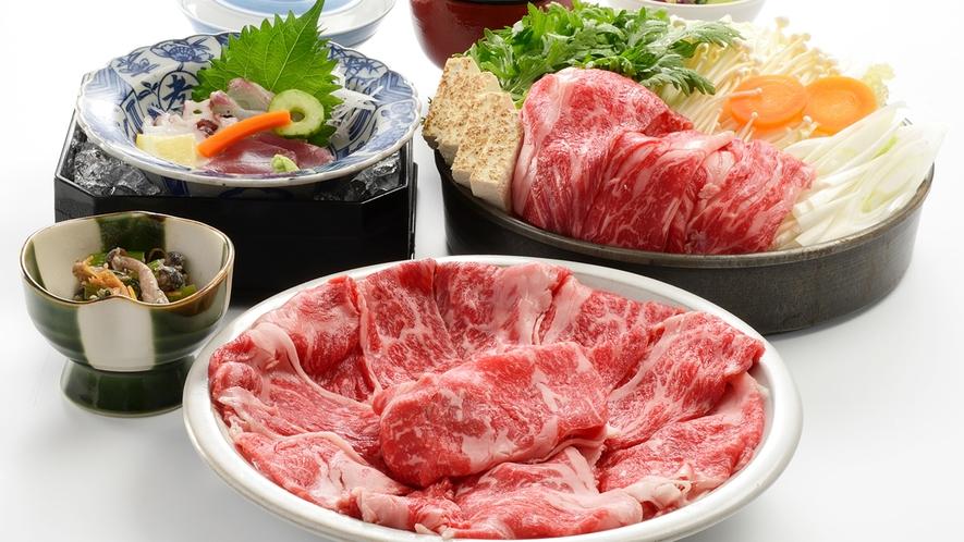 伝統の牛鍋コース(画像はイメージです)