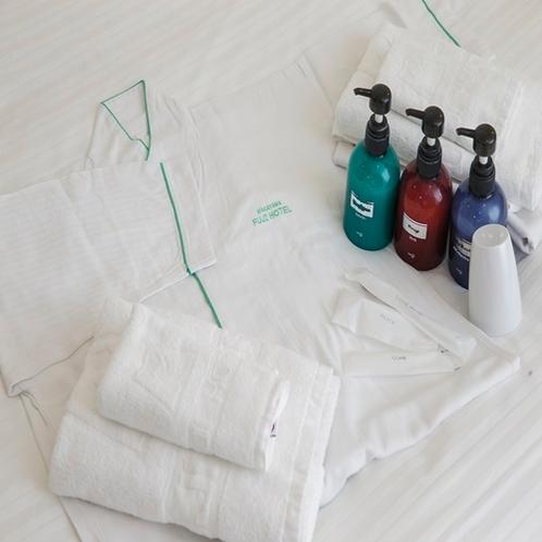 客室アメニティ(浴衣、ソープ類)