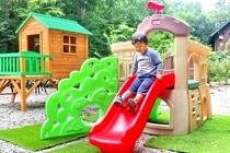 庭で遊ぼう!・すべり台