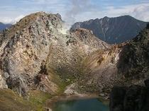 焼岳・カルデラ湖/穂高岳300x225