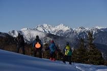 厳冬期の乗鞍岳 バックカントリー
