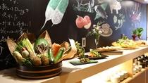 湯端館4階食事処 旬恵ダイニング「幸」・ミニブッフェコーナー