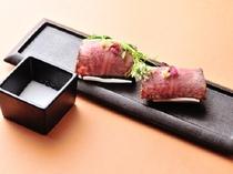 別注文料理・信州産牛寿司