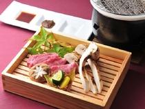 期間限定・信州産牛と松茸の炭火焼