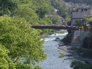 新緑の木曽川