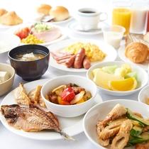 【朝食 / 和洋バイキング】 盛り付けイメージ★大阪のおふくろの味とおもてなしでお腹も心もあったか!