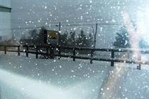 雪景色 テラス