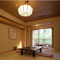 「12畳一間」の一例。コネクティング利用できるお部屋はこのお部屋と、隣室の「バリ風」のお部屋です。