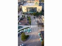 武生駅前とショッピングセンター(屋上より撮影)