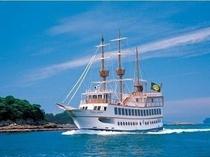 大海原を走る、真っ白な遊覧船・パールクイーン★九十九島の絶景をご覧下さい♪