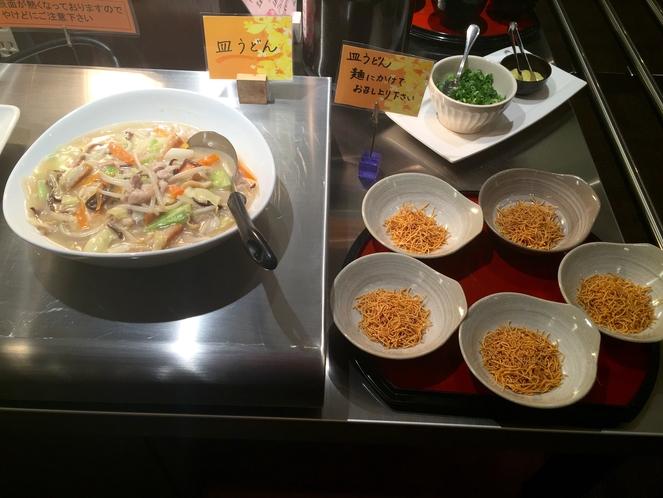 長崎名物☆皿うどん♪朝食バイキングでお召し上がり頂けます♪