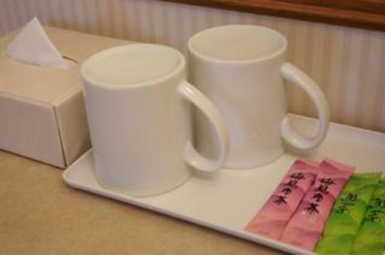 煎茶・梅昆布茶サービス