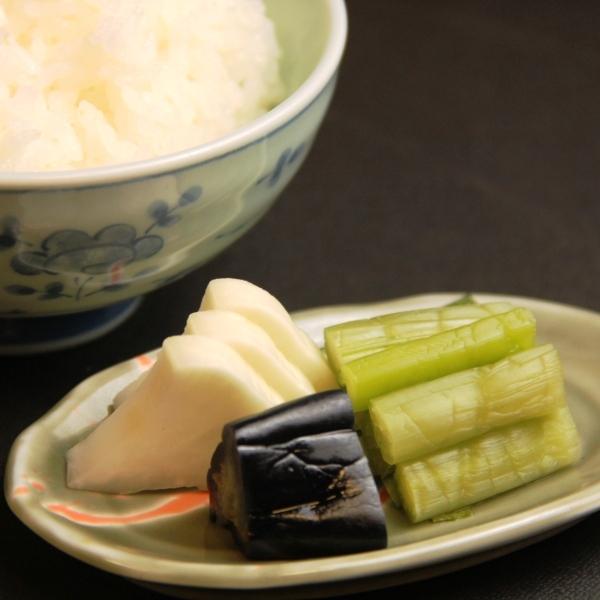 料理_朝食 野沢菜