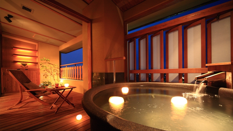 星の棟露天風呂付Aタイプ スイート和洋室