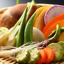 【鉄板焼】有機野菜