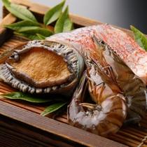 【鉄板焼】海鮮3種盛