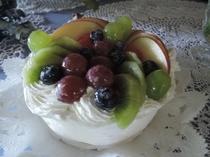 フルーツ一杯のケーキ