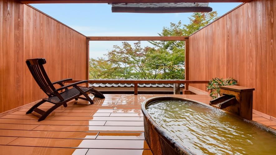 *樹のしずく【黄金の湯をかけ流し露天風呂付き客室】