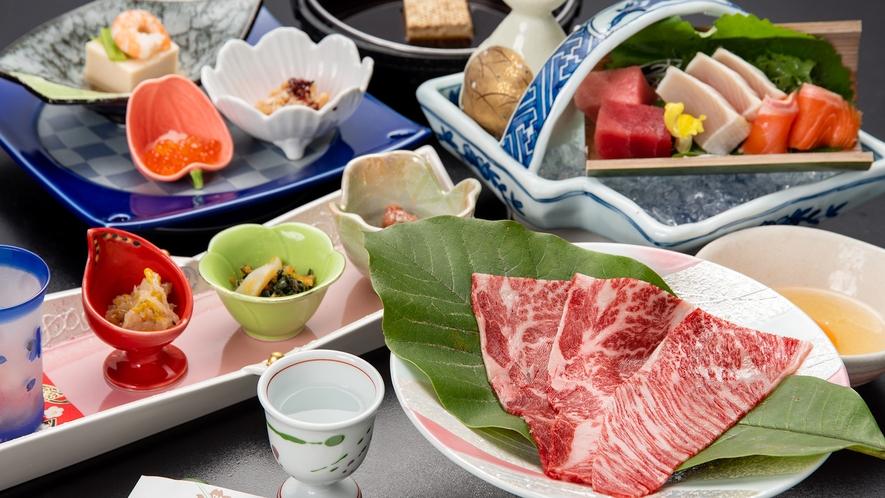 *【夕食一例】上州牛のすき焼き(椿会席)
