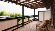 *『房総』半露天風呂付和室からの眺望。