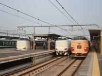 福知山駅特急電車