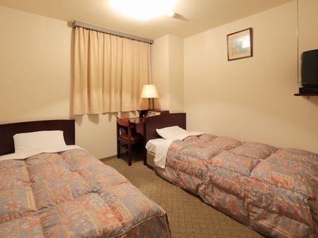 【きつ煙ツインA】狭い部屋だからお得 ベッド幅100cm×2