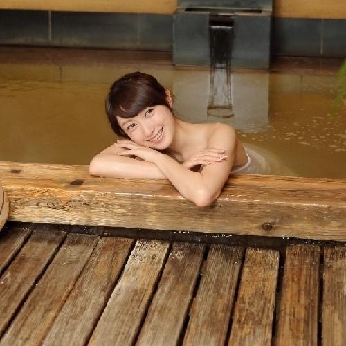 天然温泉で くつろいでください ♪