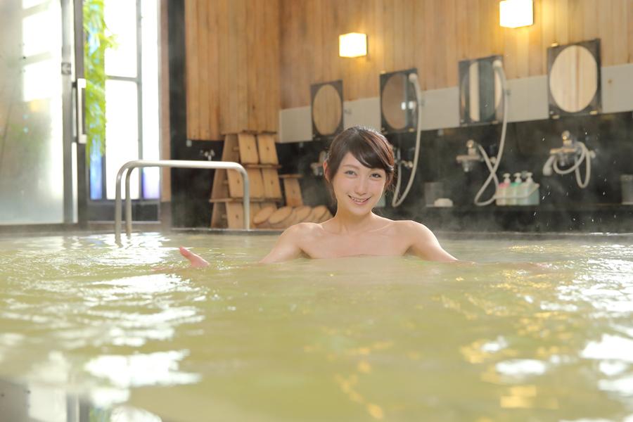 天然温泉大浴場で癒されよう(^^♪