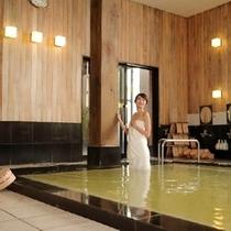 【天然温泉大浴場】広々とした大浴場 疲れを癒してください