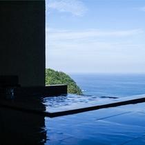 海の平屋棟 露天風呂からの眺め