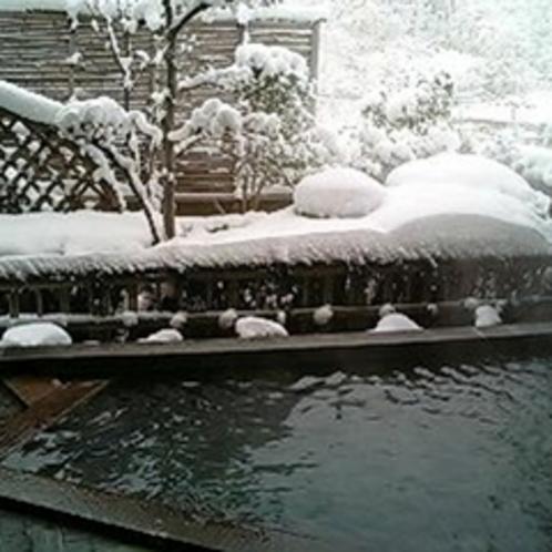 女性露天風呂 冬
