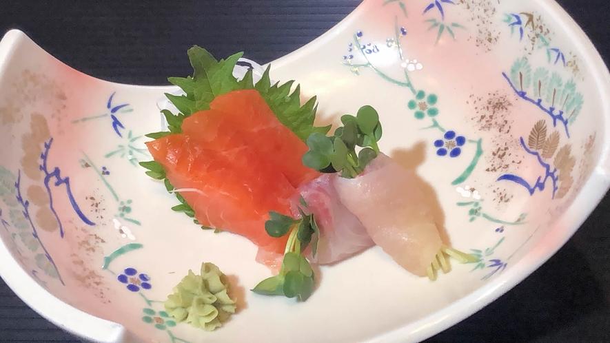 信州サーモンと岩魚のお造り