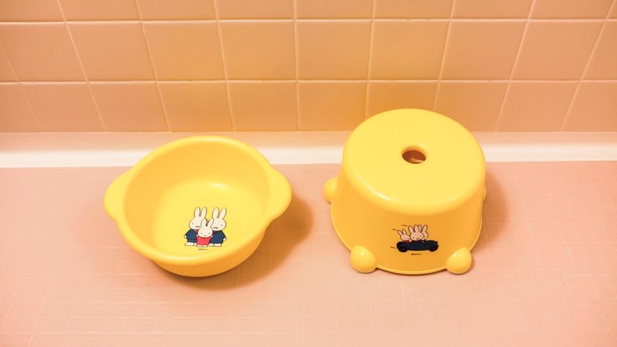 クァルテットルームにはお子様用の洗面器と椅子もご用意しております♪