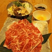 【ご夕食】上州牛のすき焼き※ご希望の場合は上州牛のすき焼き鍋プランをご選択ください。