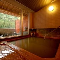 【温泉】源泉掛け流し!100%ピュアの天然温泉は「茶褐色」のにごり湯です!