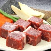 【ご夕食】赤城牛のサイコロステーキ(陶板)※ご希望の場合は赤城牛ステーキプランをご選択ください。
