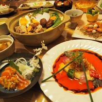 【ご夕食】別館でお部屋食プランの場合は、お料理が通常よりグレードアップされます。(画像はイメージ)